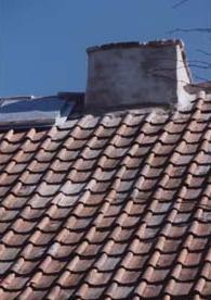 Kalkstensskorsten 1800-talets mitt. (Rekonstruktion)